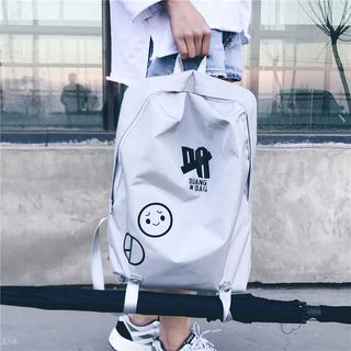 SUNMAN - Printed Canvas Backpack