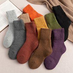 Lychee - Set of 3: Plain Wool Socks