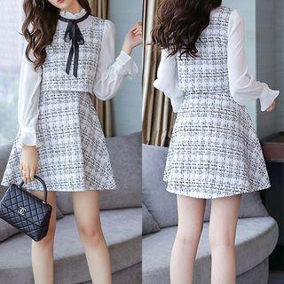 EFO - Mock Two-Piece Tweed Mini Dress