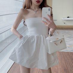 NENE - Strapless Playsuit / A-Line Dress