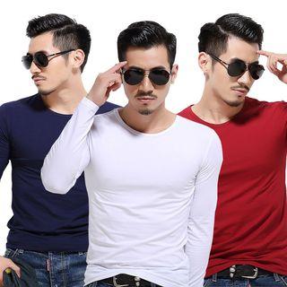 Acrius(アクリウス) - Plain Long-Sleeve T-Shirt