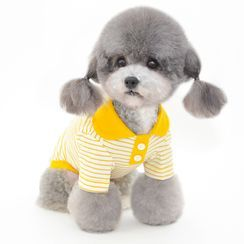 Pettrip - Striped Collared Pet Top