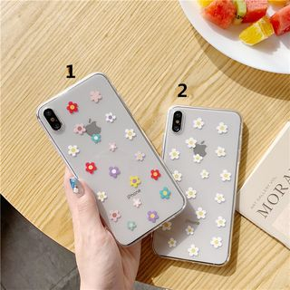 Phone in the Shell - Floral Printed iPhone 11/ 11 Pro / 11 Pro Max/ XS MAX / XR / XS / X / 8 Plus / 8 / 7 Plus / 7 / 6S Plus / 6S