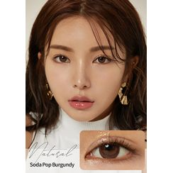 GLOW LOUDEY - Natural Monthly Color Lens #Soda Pop Burgundy