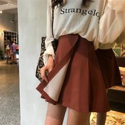 Chililala - Wrap A-line Mini Skirt