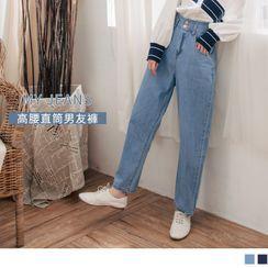 OrangeBear(オレンジベア) - Straight Leg Boyfriend Jeans