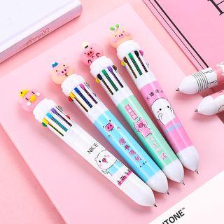 Eteum(エテウム) - Squishy Pig Cartoon Printed Multicolor Pen