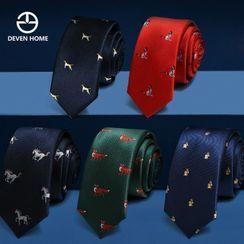 DEVEN HOME - Animal Print Neck Tie