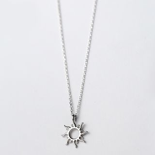 A'ROCH - 925 Sterling Silver Sun Pendant Necklace