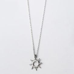 A'ROCH - 925纯银太阳吊坠项链