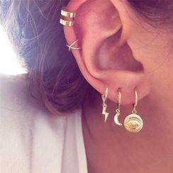 Terreau Kathy - Set: Alloy Earring / Cuff Earring (assorted designs)