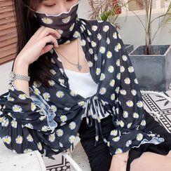 Passiflora - Floral Print Tie-Front Jacket