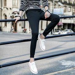 Hansel - 纯色抽绳运动长裤