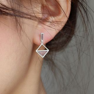 CatSoul(キャットソウル) - Non-matching Alloy Square Dangle Earring