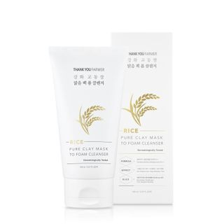THANK YOU FARMER - Rice Pure Clay Mask to Foam Cleanser
