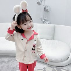 Ohori - Kids Set: Long-Sleeve Cartoon Pajama Top + Pants
