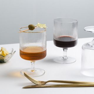 Moonap - Retro Embossed Glass Drinking Cup