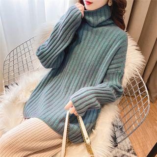 Midori - 樽领罗纹针织毛衣