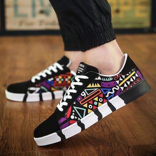 Viffara - Patterned Canvas Sneakers