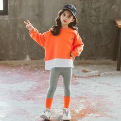 Pegasus - 小童套装: 假两件套衫 + 插色裤