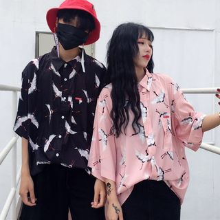 LINSI - Couple Matching Print Shirt