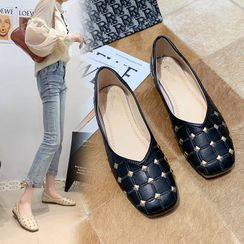 BARCA - Quilted Studded Flats