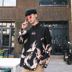 Acrius - 仙鹤印花衬衫