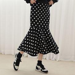 Lemite - Polka Dot Maxi Mermaid Skirt