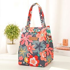 On My Mind - Floral Print Insulated Lunch Bag