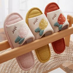 Cool Cocoon - Couple Matching Embroidered Home Slippers