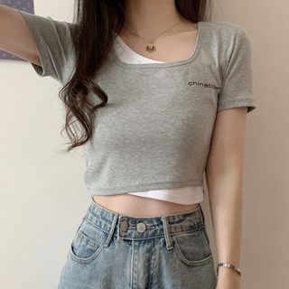 Shopherd - Short-Sleeve Mock Two Piece T-Shirt