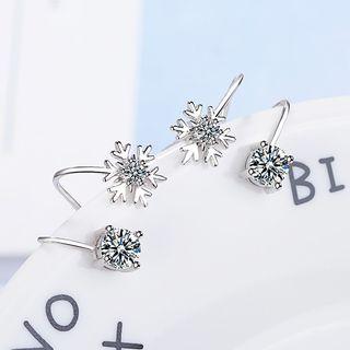 Knick Knack - Rhinestone Snowflake Cuff Earring