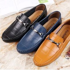 MARTUCCI - Genuine Leather Buckled Loafers