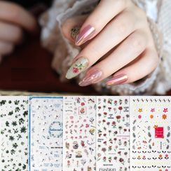 WGOMM - Floral Nail Art Stickers