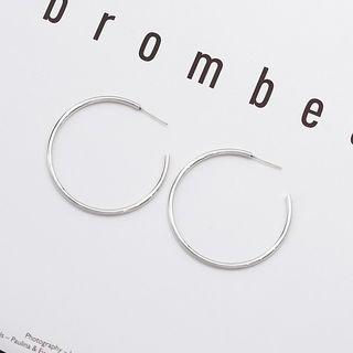 Bmuse - 合金開口圈環耳環