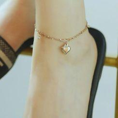 Tenri - Stainless Steel Heart Anklet