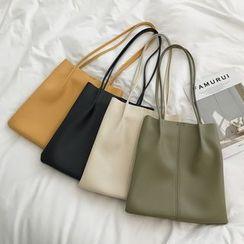 Shinian(シニアン) - Faux Leather Tote Bag