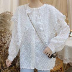 Vinille - Long-Sleeve Lace Blouse