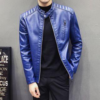 NYEON - Faux Leather Zip Jacket