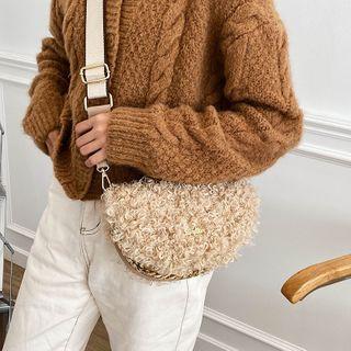 Anadelta(アナデルタ) - Wide Strap Fleece Saddle Crossbody Bag