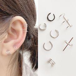 Mimishi - 合金幾何耳掛 (多款設計)