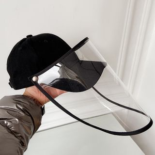 Passiflora - Baseball Cap with Face Shield
