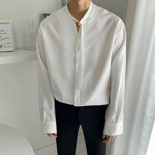 DragonRoad - Long-Sleeve Plain Shirt