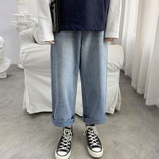 Tiaota - Cropped Straight Fit Jeans
