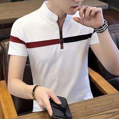 Andrei - 插色短袖马球衫