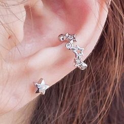 CatSoul - Rhinestone Star Cuff Earring