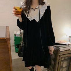 Ashlee - 七分袖飾領連衣裙