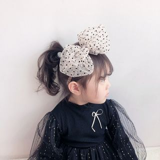 Sweet la Vie - Kids Mesh Dotted Bow Headband