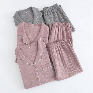 Somnus - 情侣睡衣套装: 长袖上衣 + 长裤