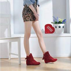 佳美 - 内增高镂空踝靴